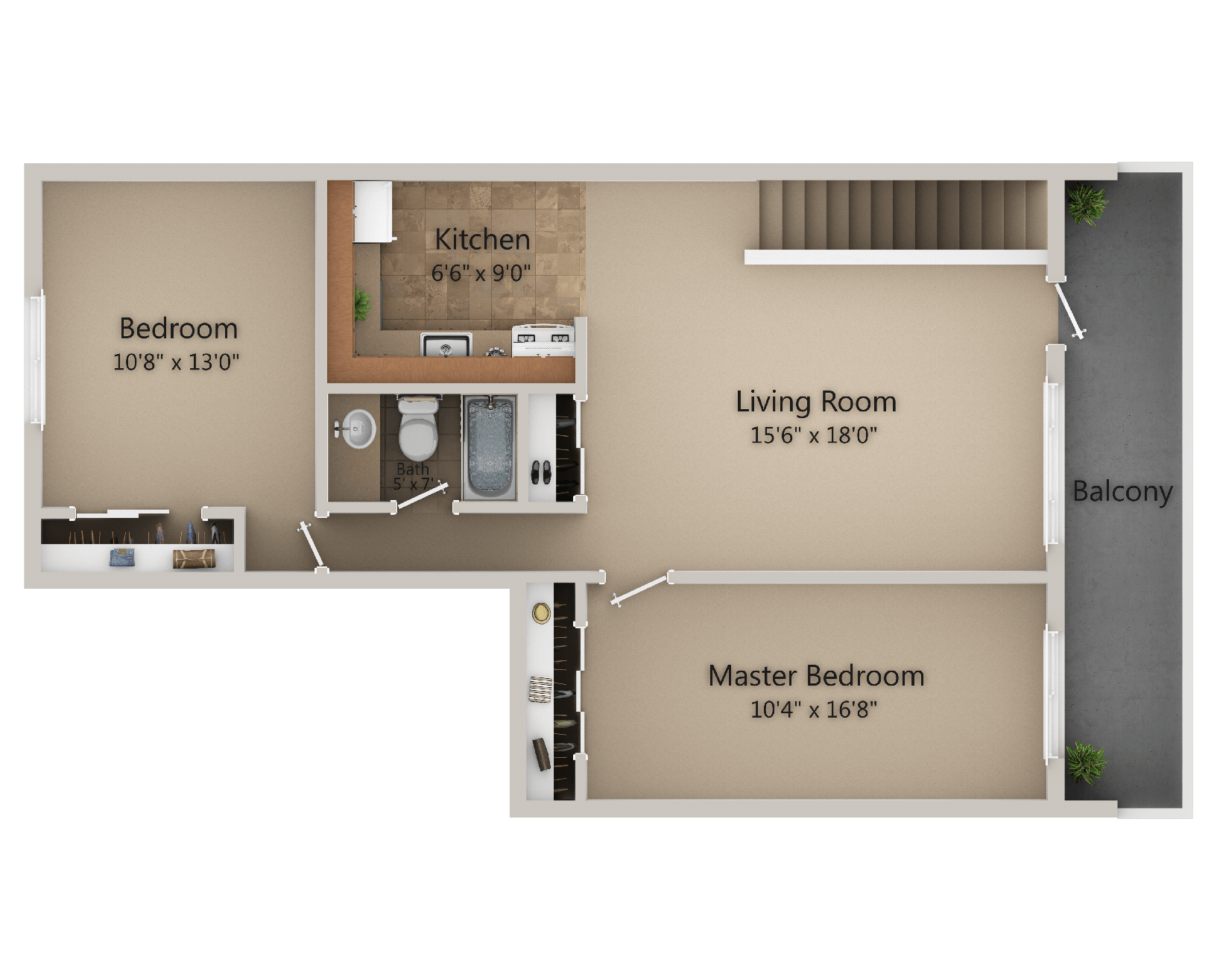 Valley View Apartments - 2 Bedroom